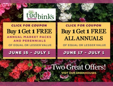 Annual MARKET PACKS & PERENNIALS & ANNUALS Coupons to buy one get one FREE