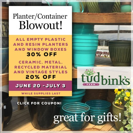 Coupons for Planters/Containers!