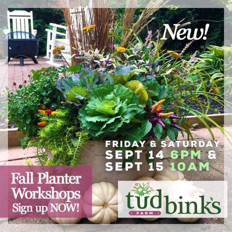 Tudbink's NEW Fall Planter Workshop!