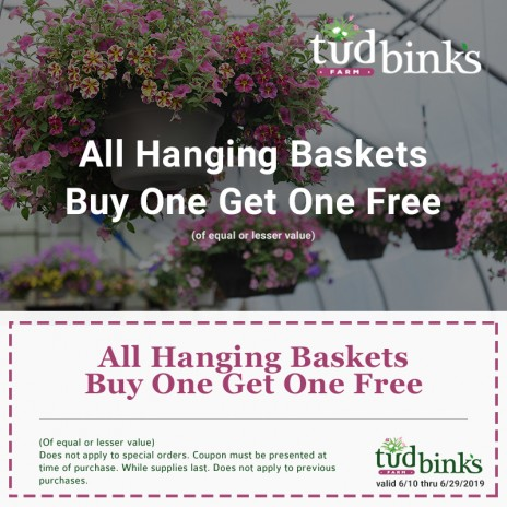 Hanging Baskets Coupon